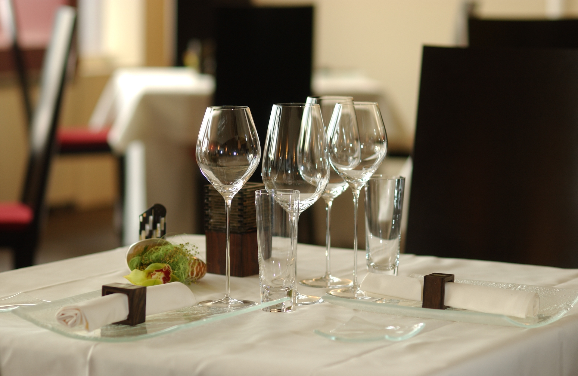 Fine dining restaurant table setup - Table Set Up At Restaurant Spice Hotel Restaurant Rigiblick Z Rich A